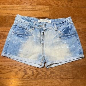 ZARA Woman Distressed Denim Shorts